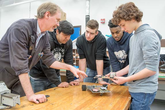 Windsor Secondary Electronics Students