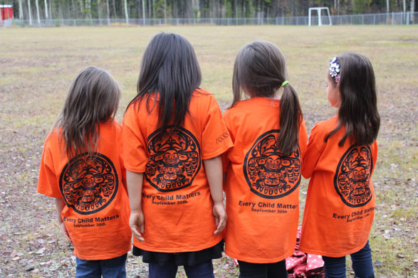 Orange shirt day in Stikine