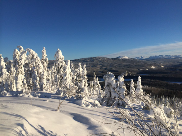 Snow covered slopes in Stikine