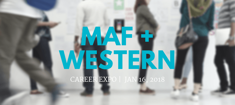 Image of MaF and Western University Career Fair Banner