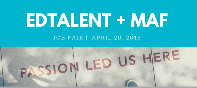 2018 Edtalent Spring Job Fair Banner