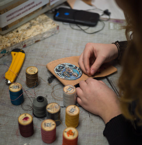 Image of student doing crafts