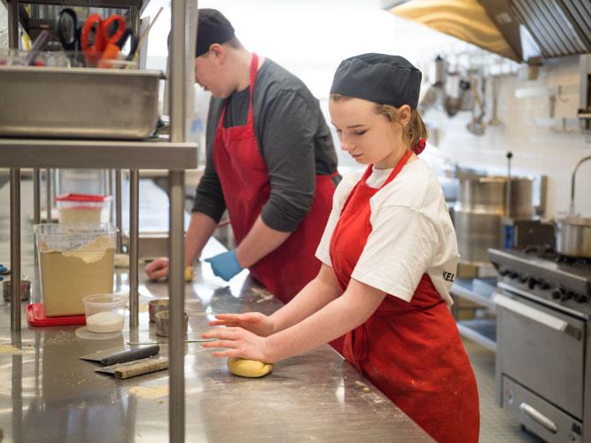 Image of student baking
