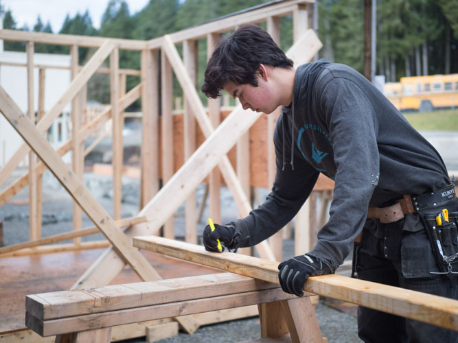 Image of Woodwork Student