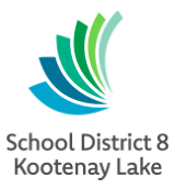 Kootenay Lake School District 8 logo