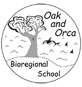 Oak and Orca Bioregional School and DL logo