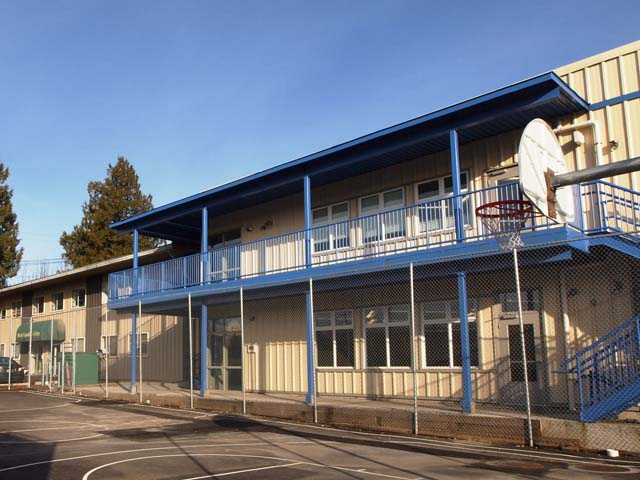 exterior view of the school building