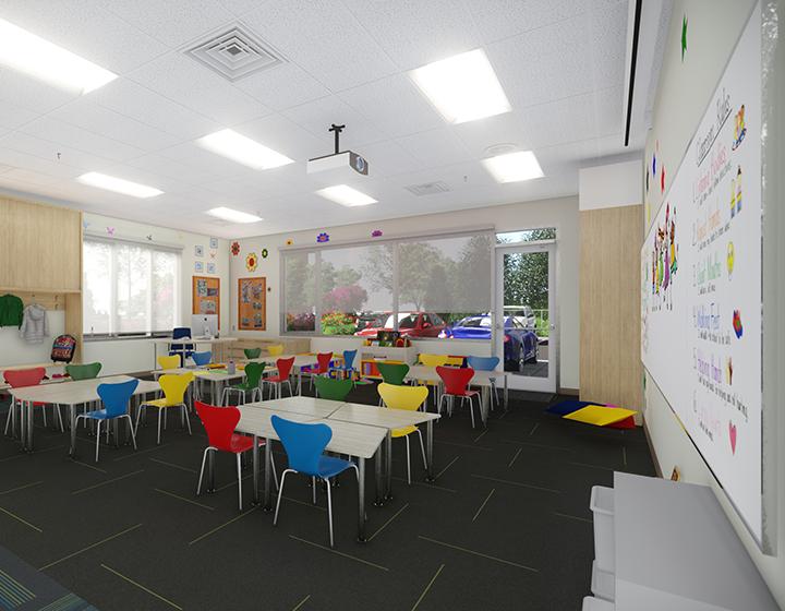Chaoyin International School elementary classroom