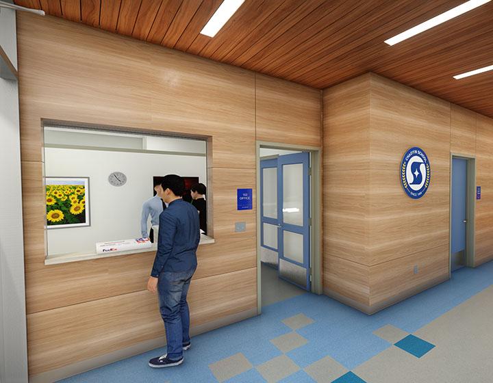 Chaoyin International School reception area