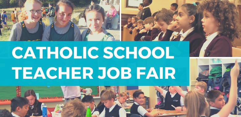 Catholic School Job Fair collage of students