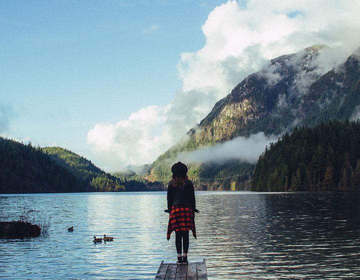 Woman at Buntzen Lake