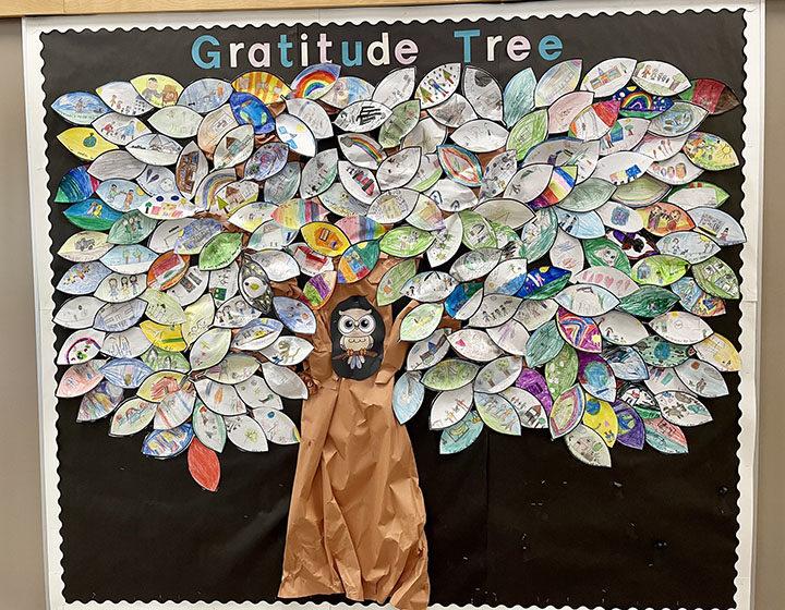Gratitude Tree from Bramblewood Elementary