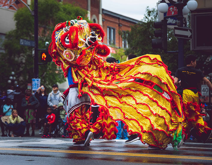 Greater Victoria Chinatown lion dance