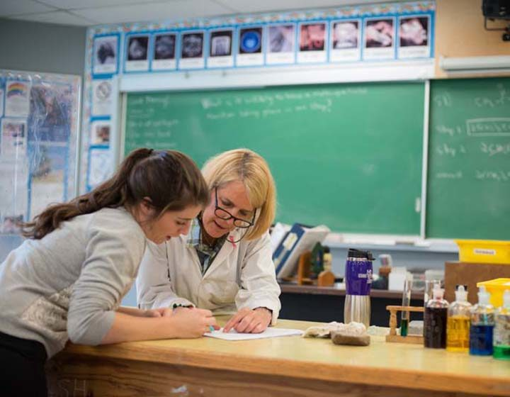 Greater Victoria SD 61 science teacher and student