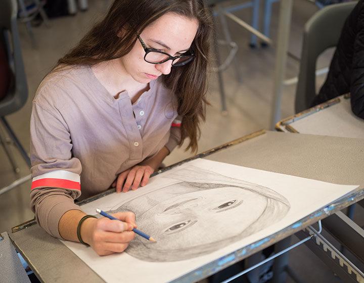 Cowichan Valley School District art student