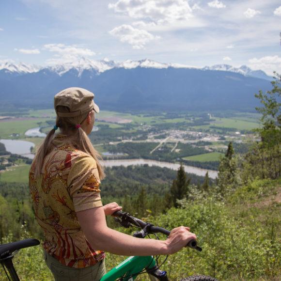 Biking in McBride