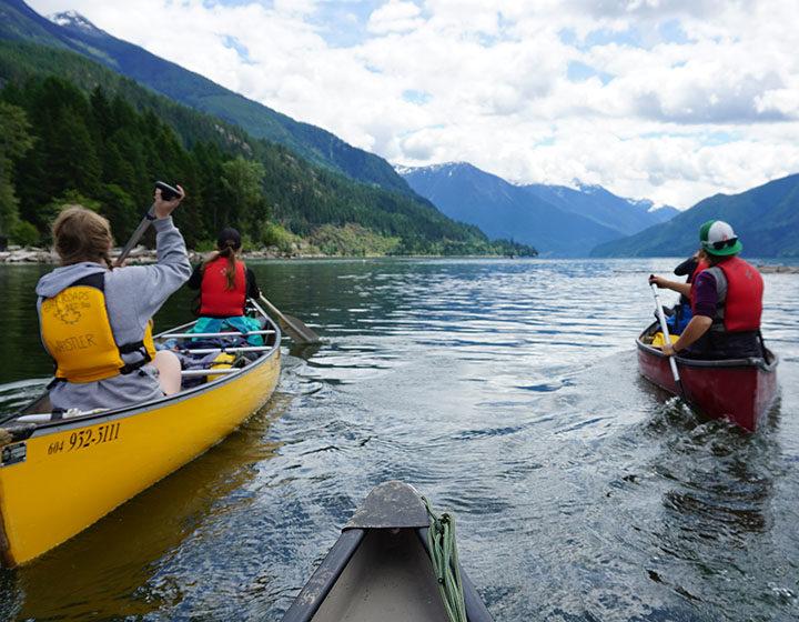 Whistler Waldorf School students kayaking